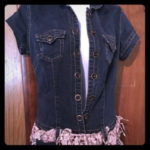 Hot kiss jumpsuit shorts size small
